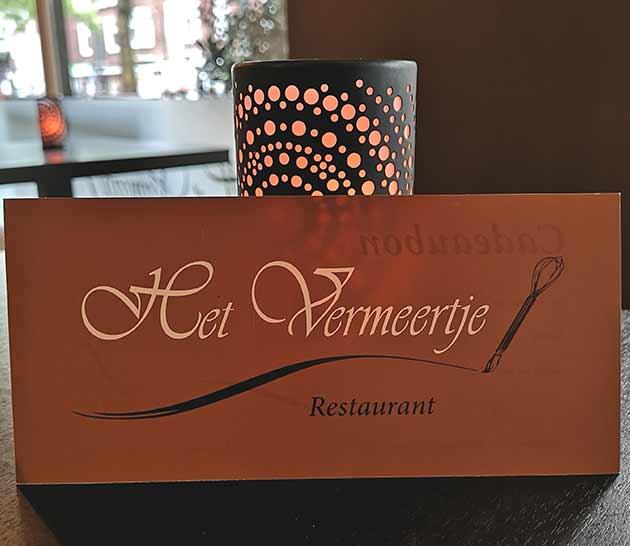 Cadeaubon restaurant Het Vermeertje Delft